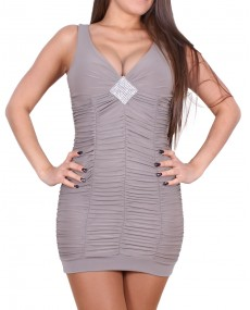 "Robe femme ""Feliciana"" taupe"