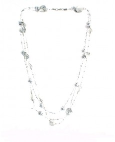 Collier fantaisie gris