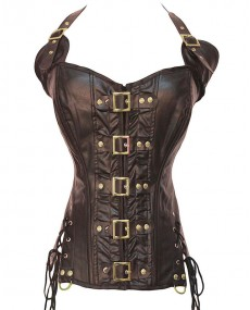 Corset Simili marron