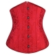 Corset serre taille jaquard rouge