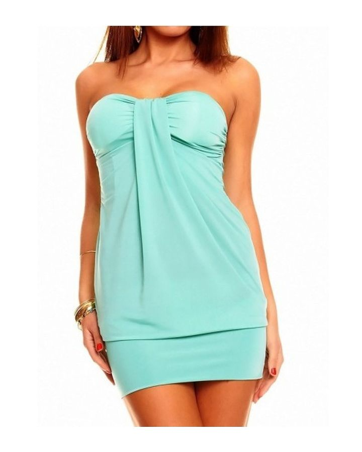 Robe bustier sexy turquoise