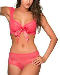 "Ensemble lingerie femme ""Kiss Again"" rouge"