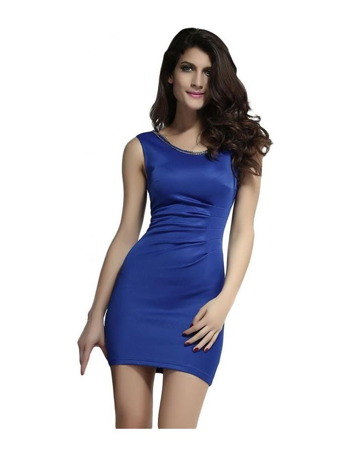 Robe bodycon bleu