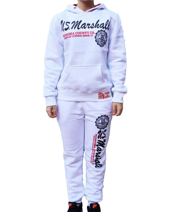 Jogging US MARSHALL Blanc Enfant Mixte