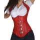 Corset bustier serre taille rouge