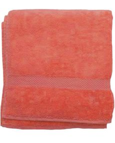 Drap de bain orange 70x130cm 100% coton