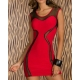 Robe bodycon sexy rouge