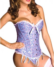 "Corset bustier Push Up ""P'tite lady"" bleu"