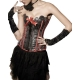 "Corset bustier Push Up""P'tite lady"" Rouge"